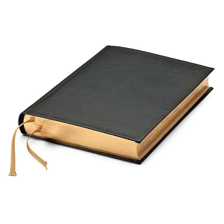 India Paper Notebook Gold Side Cut