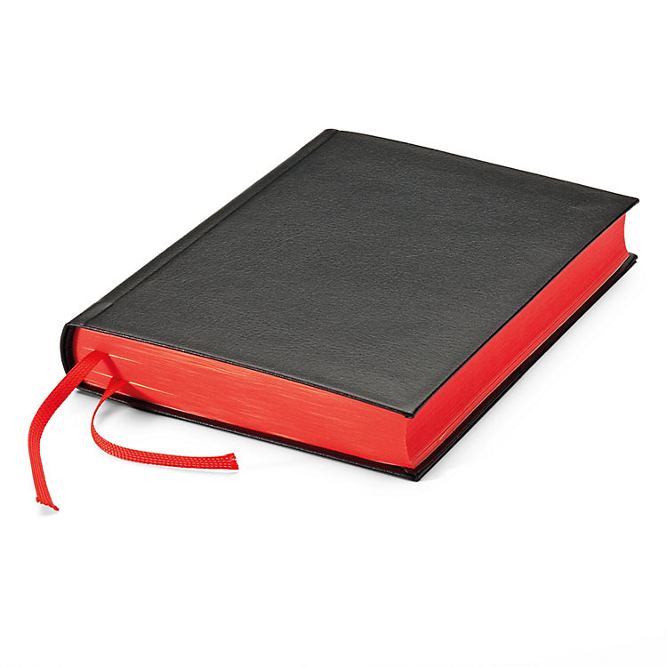 India Paper Notebook Red Side Cut