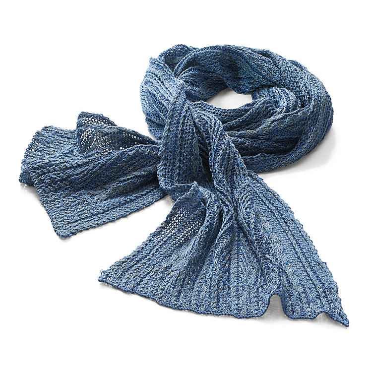 Inis Meáin Linen Scarf Blue-Green