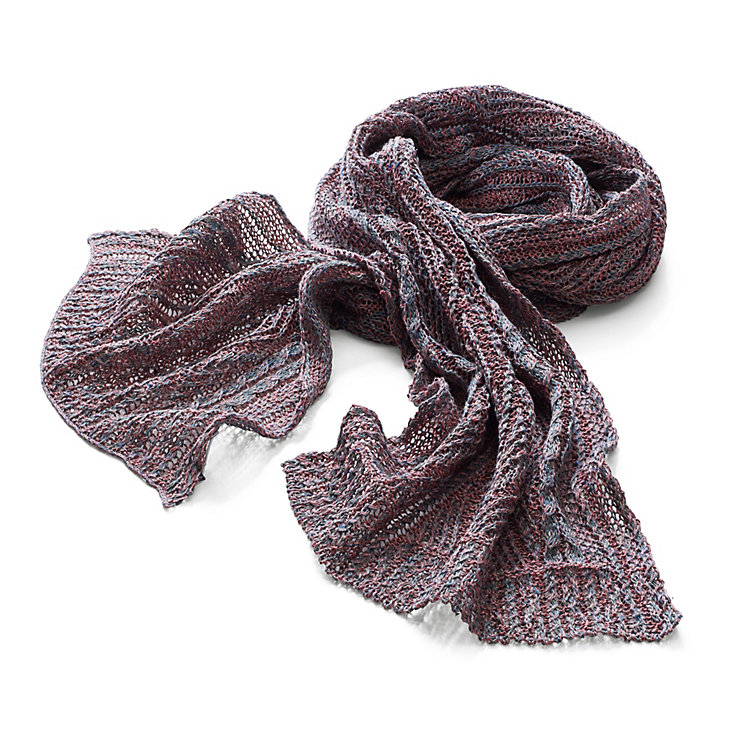 Inis Meáin Linen Scarf Red-Green