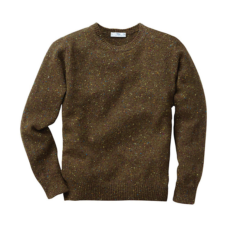 Inis Meáin Men's Donegal Sweater, Olive