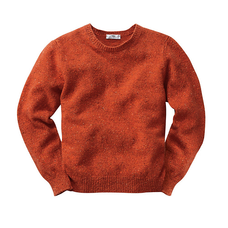 Inis Meáin Men's Donegal Sweater, Orange