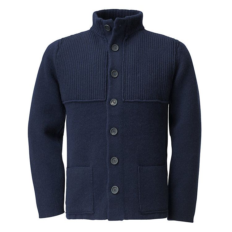 Inis Meáin Men's Knit Jacket Dark blue