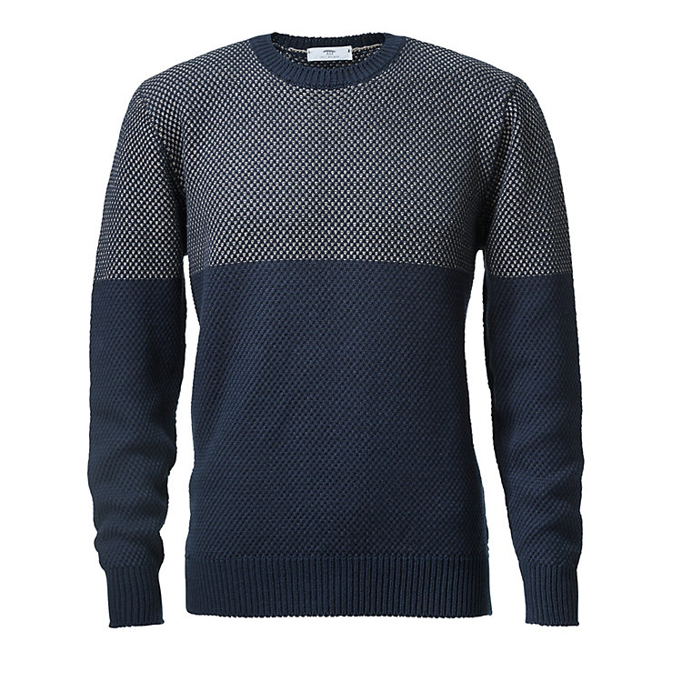 Inis Meáin Men's Sweater Birdseye Blue-grey