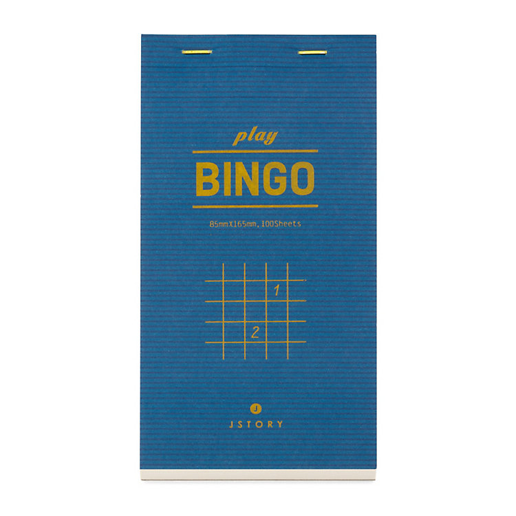 Inventive Notebook Bingo Game Sheet