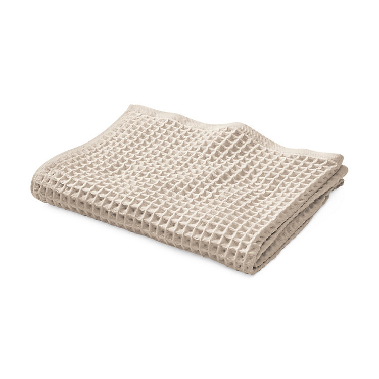 Japanese Honeycomb Weave Hand Towel Beige