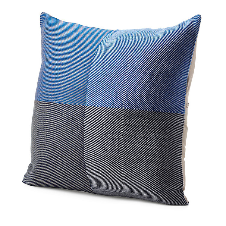 Karigar Cushion Cover Hand-Woven Blue