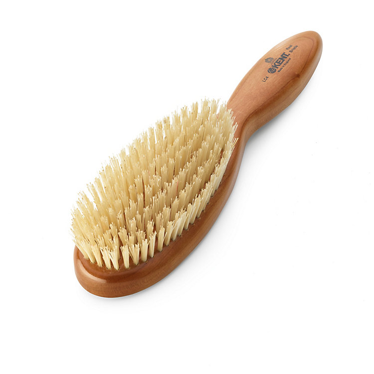 Kent Boar Bristle Hairbrush Light Coloured Oval Shaped