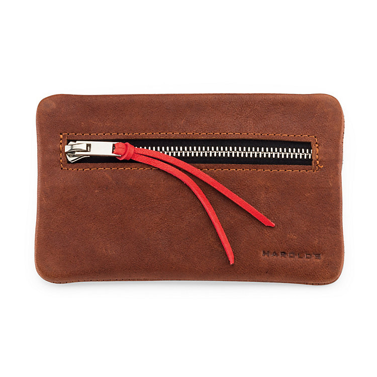 Key and Coin Pouch Supercourse, Light Brown/Red