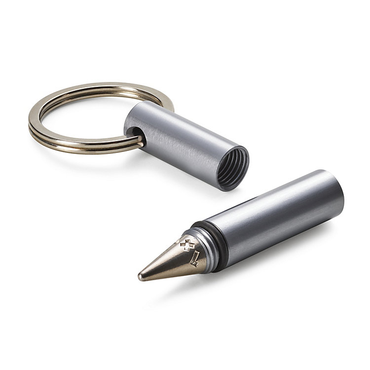 Key Ring With All-Weather Pen Aluminium case