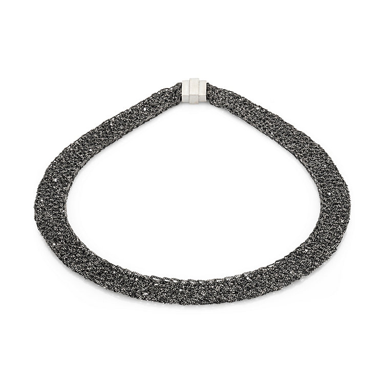 Knitted Silver Necklace
