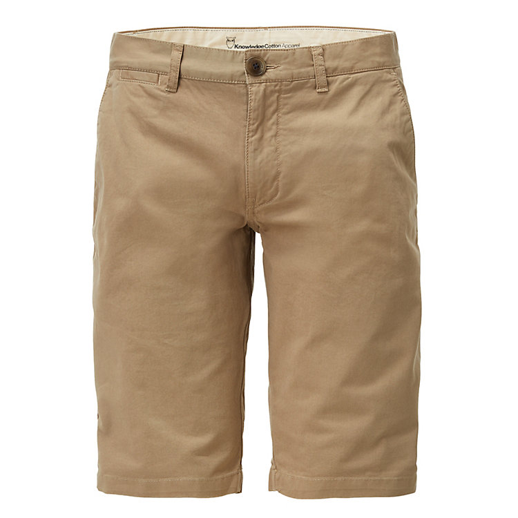 Knowledge Cotton Apparel Chino Shorts Beige