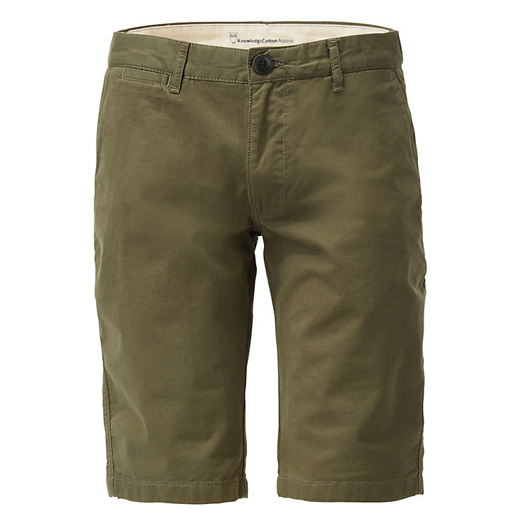 Knowledge Cotton Apparel Chino-Shorts Khaki