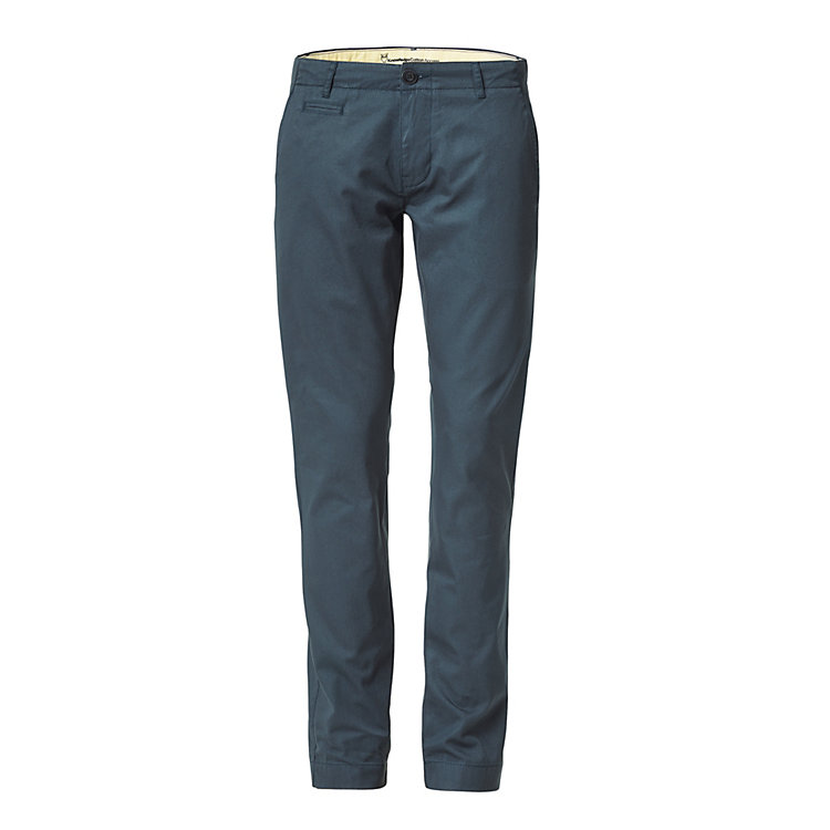 Knowledge Cotton Apparel Chino Trousers Dark blue