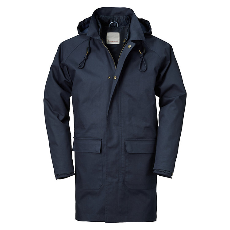 Knowledge Cotton Apparel Herren-Baumwollparka Marine
