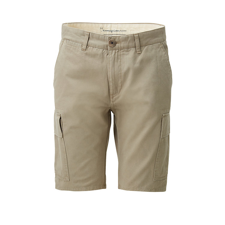 Knowledge Cotton Apparel Herren-Cargo-Bermudas Beige