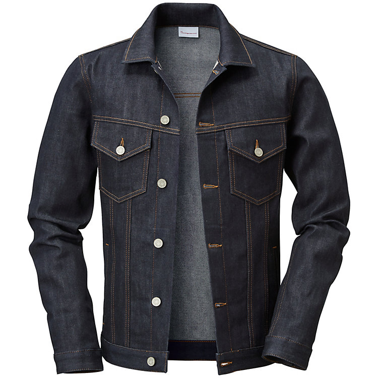 Knowledge Cotton Apparel Herren-Jeansjacke Denim Blue Denim Blue