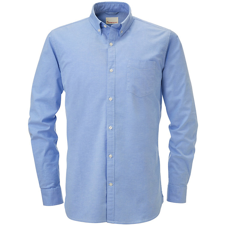 Knowledge Cotton Apparel Herren-Oxfordhemd Hellblau