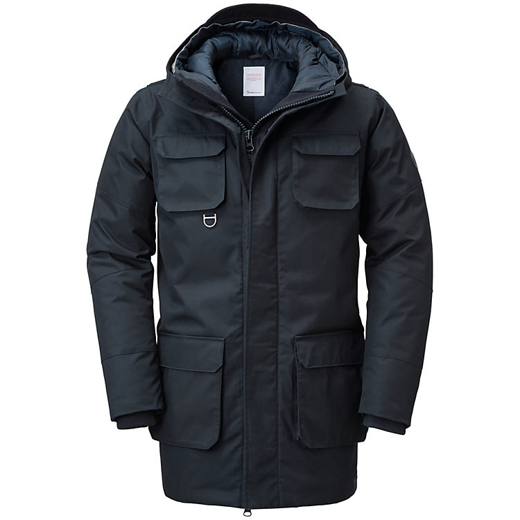 Knowledge Cotton Apparel Herren-Parkajacke Navy