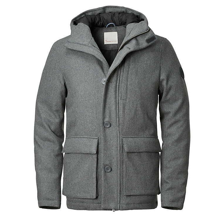 Knowledge Cotton Apparel Herren-Parkajacke, Grau