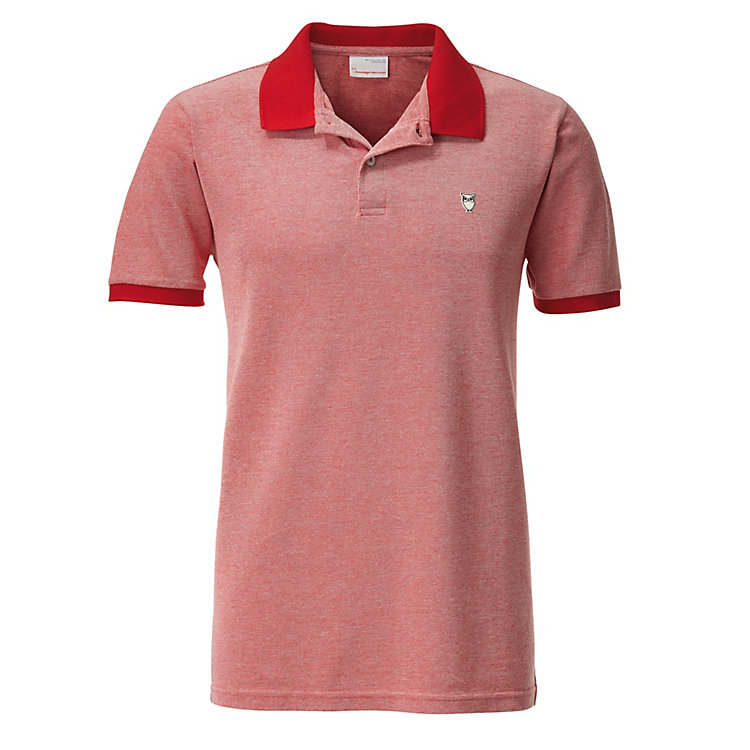 Knowledge Cotton Apparel Herren-Polo-Shirt Rot