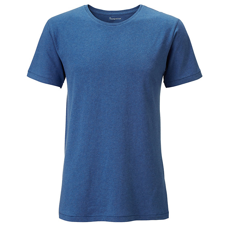 Knowledge Cotton Apparel Herren-T-Shirt Blau