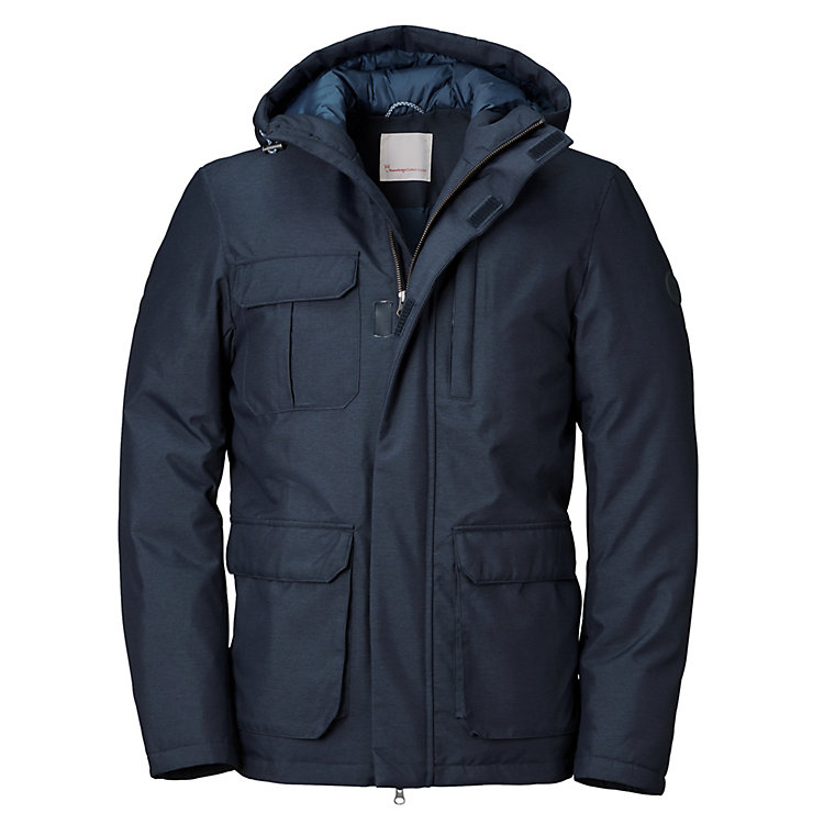 Knowledge Cotton Apparel Herren-Wetterjacke Marine