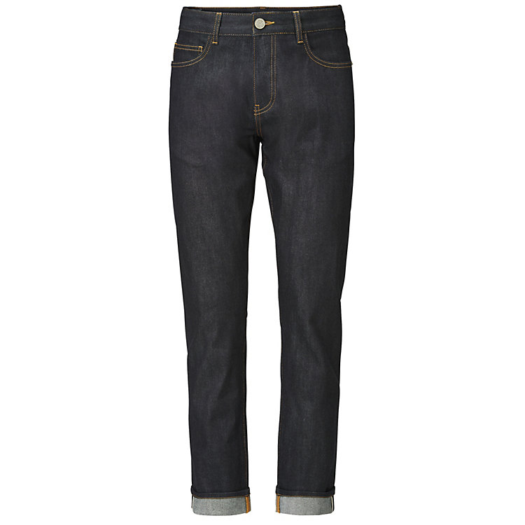 Knowledge Cotton Apparel Herrenjeans Straight, Raw Denim