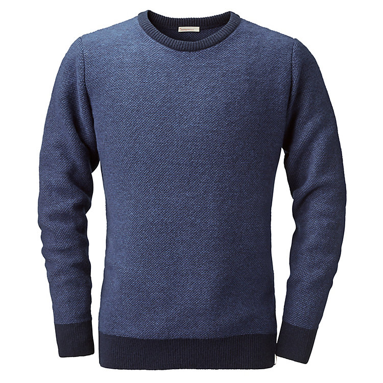 Knowledge Cotton Apparel Herrenpullover Wolle Baumwolle Marine-Blau