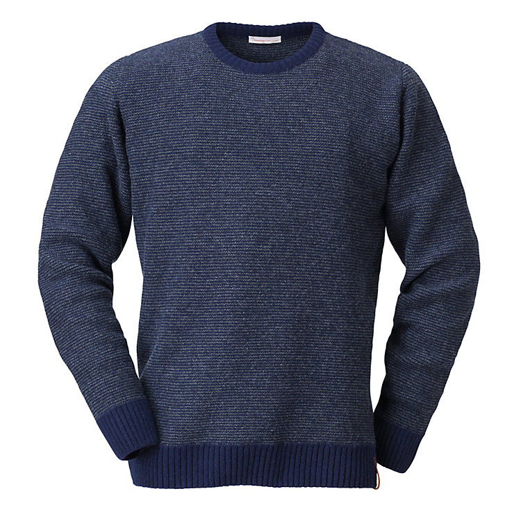 Knowledge Cotton Apparel Men's Round Neck Jumper Blue-Grey