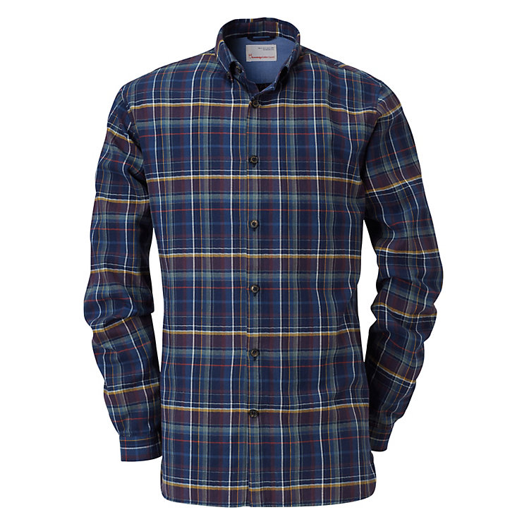 Knowledge Cotton Apparel Plaid Cotton Shirt Multi-coloured