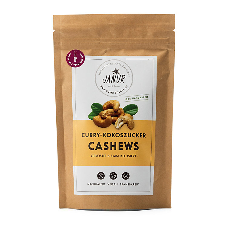 Kokoszucker-Cashews Curry
