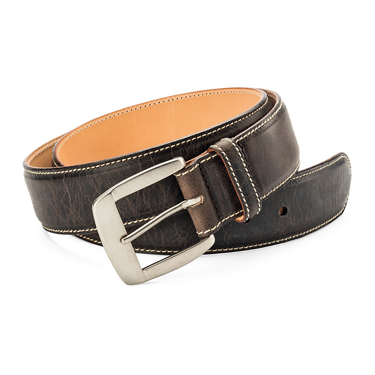 Kreis Buffalo Leather Belt, Dark Brown