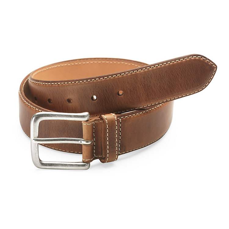 Kreis Natural Oil-Tanned Leather Belt, Brown