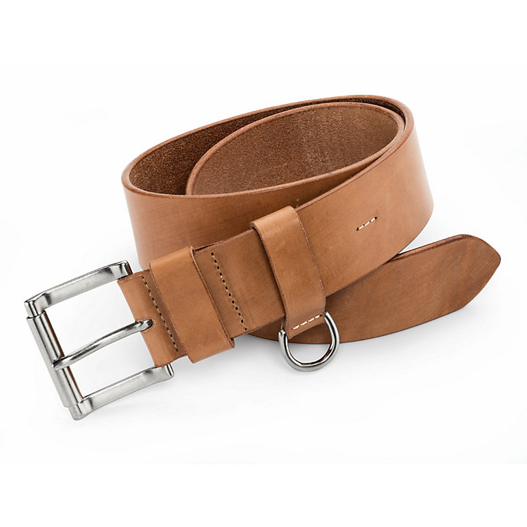 Kreis Roller Buckle Belt with D-Ring, Nature