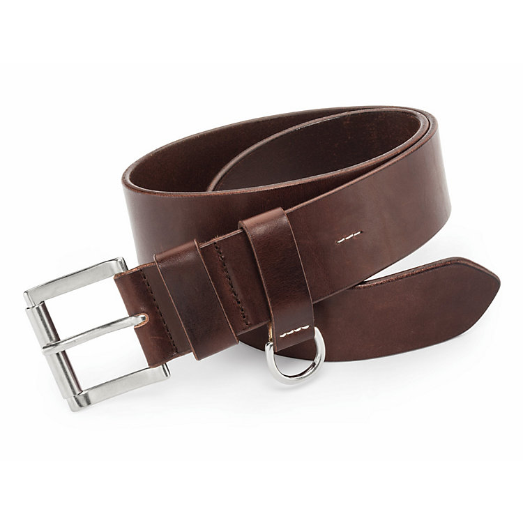 Kreis Roller Buckle Belt with D-Ring Dark brown