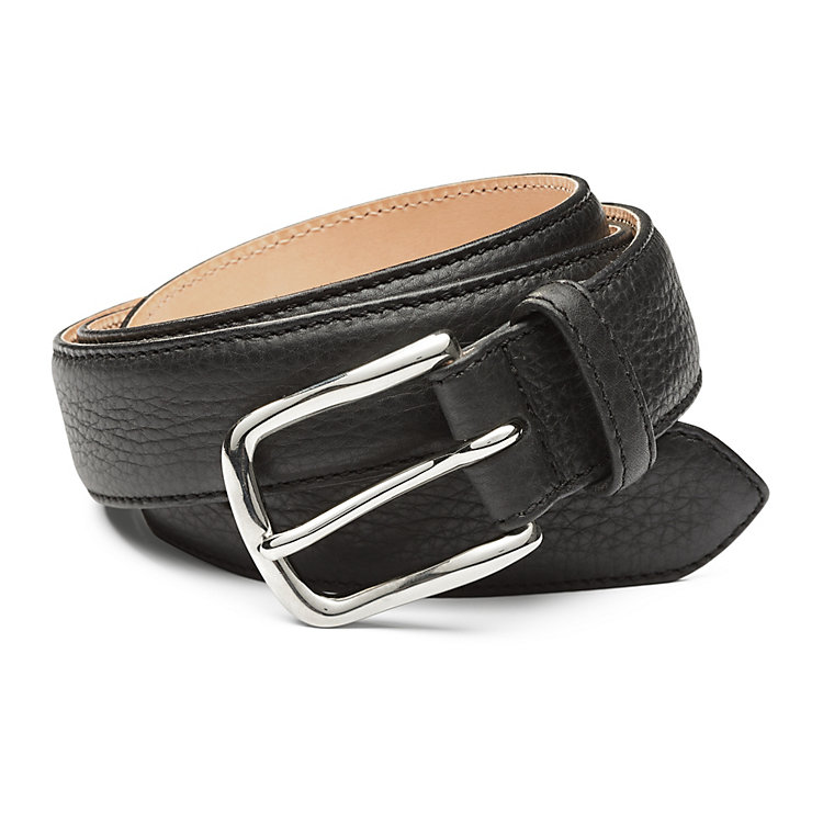 Kreis Three Layer Calfskin Belt, Black