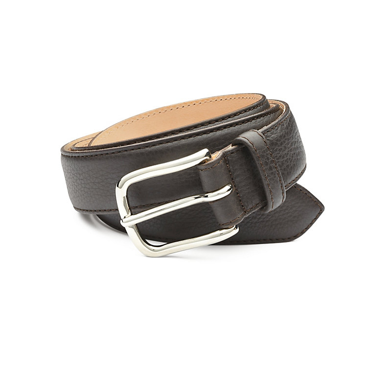 Kreis Three Layer Calfskin Belt Brown