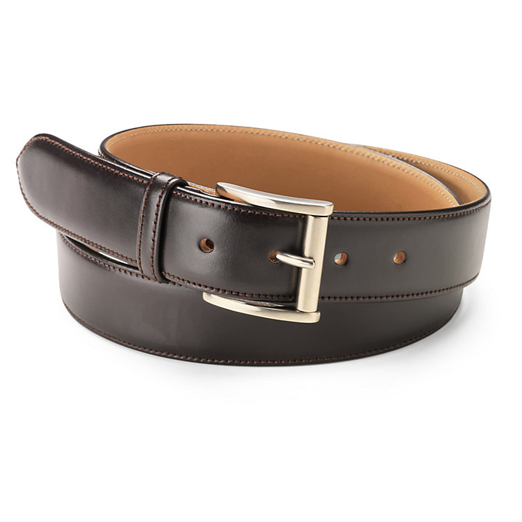 Kreis Three-Layer Cowhide Belt, Dark Brown