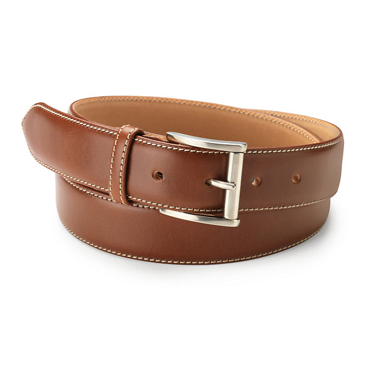 Kreis Three-Layer Cowhide Belt Medium Brown