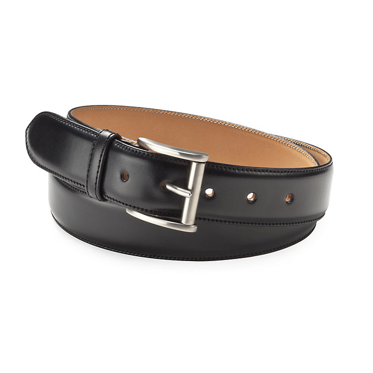 Kreis Three-Layer Cowhide Belt Black