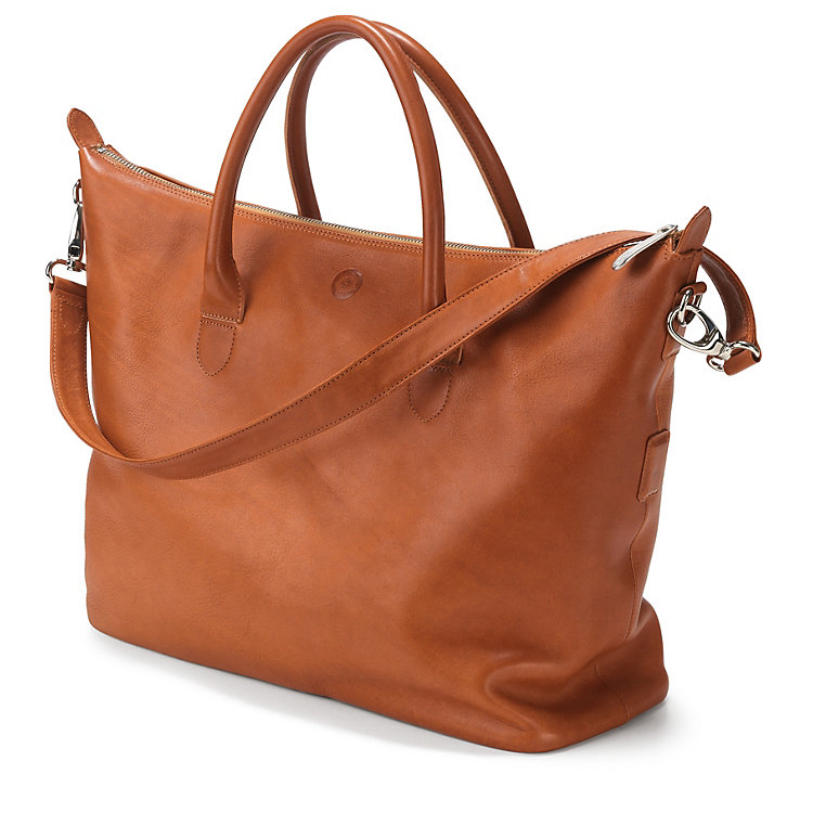 Ladies' Red-tan Leather Bag Natural