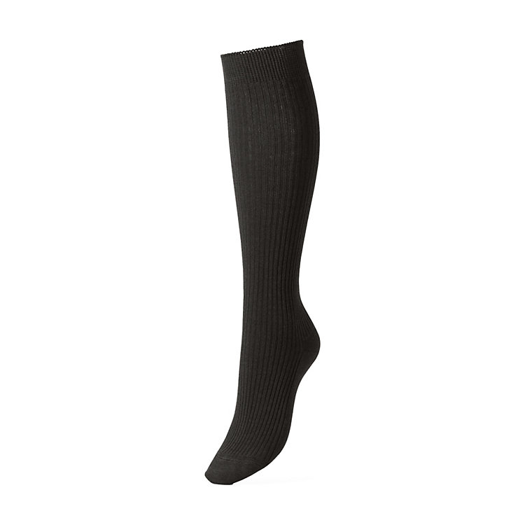 Ladies' Wool and Cotton Knee Socks Black