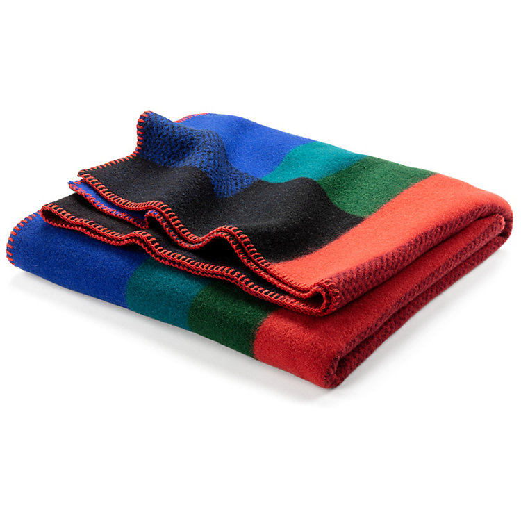 Lambswool Blanket Bauhaus Style by Røros, Blue