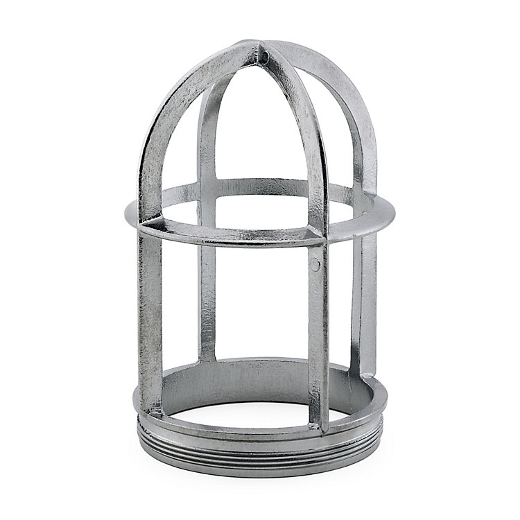 Lamp Guard for Swedish Outdoor Lamp Without Shade  Chromed brass