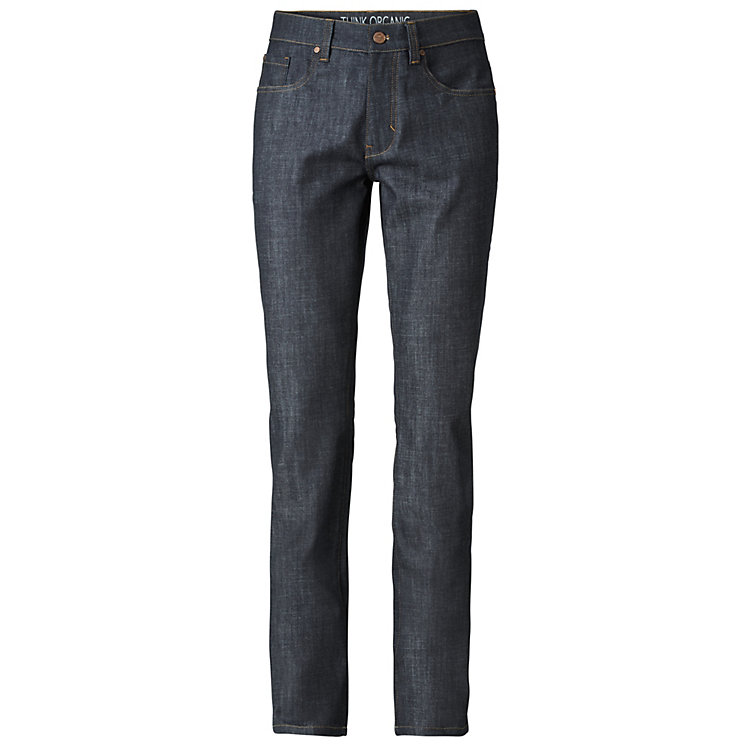 Lanius Herrenjeans Straight Fit, Blue Raw