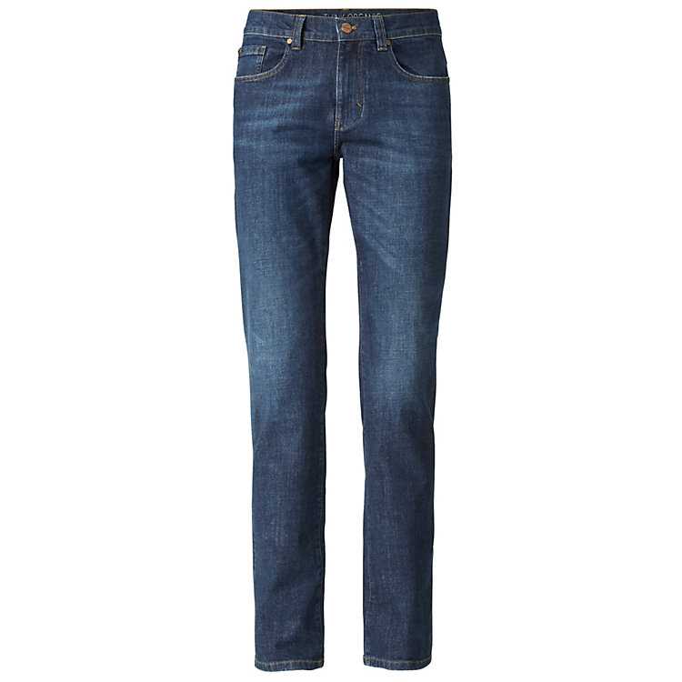 Lanius Herrenjeans Straight Fit, Blue