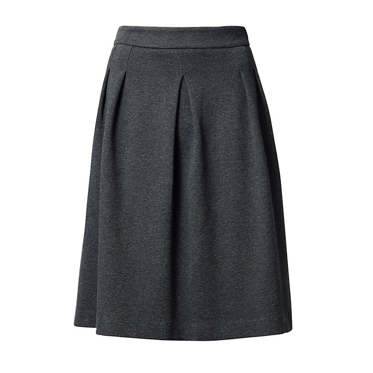 Lanius Jersey Skirt Anthracite-blue