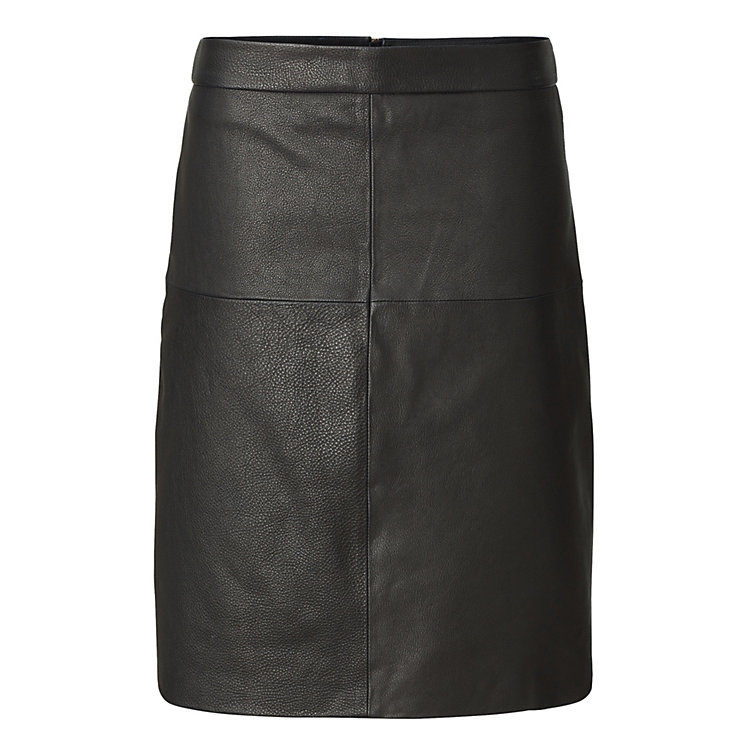 Lanius Leather Skirt Black