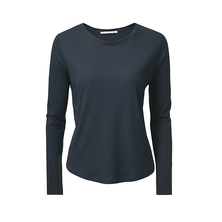 Lanius Long Sleeve Shirt Made of Modal Dark blue